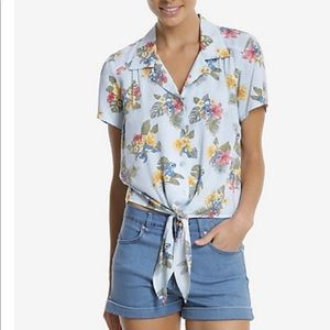 Disney Lilo stich blue shirt tied top shirt